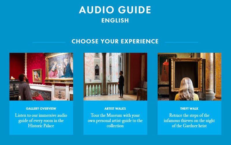 L'audioguida proposta nel museo con l'itinerario del furto.