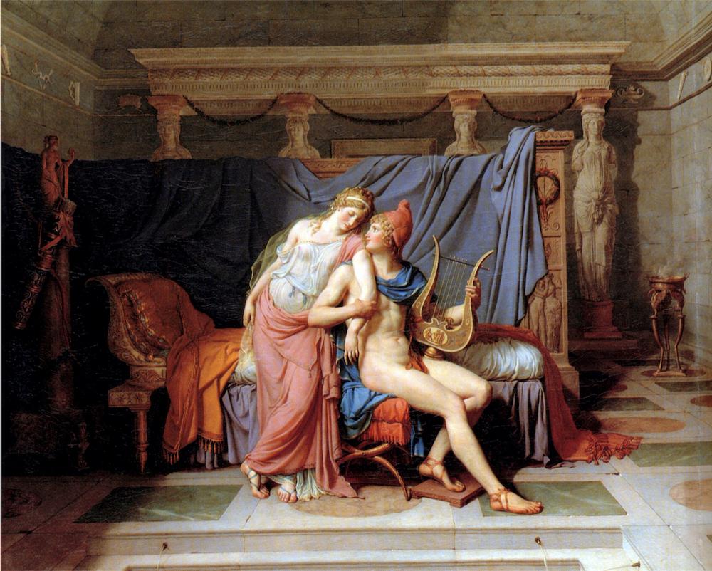 Jacques-Louis David, Elena e Paride (1788), Parigi, Museo del Louvre