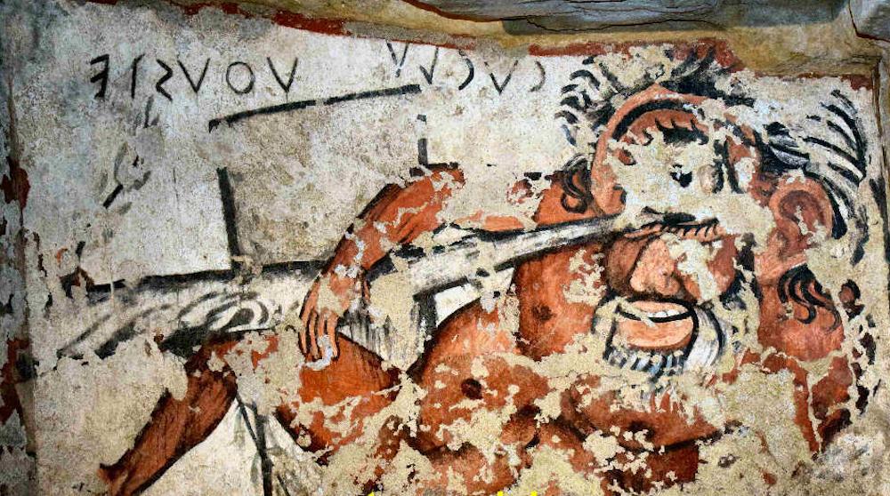 Tomba dell'Orco, accecamento di Polifemo, Tarquinia