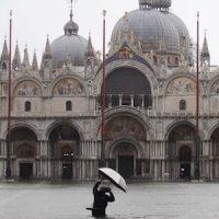 Piazza San Marco, il 12 novembre (AP Photo/Luca Bruno)